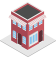 Isometric shop vector image