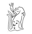 Line art cat leopard logo self love and care