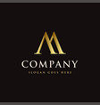 luxury elegance letter m logo icon template vector image vector image