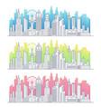 modern line art big city cityscape vector image