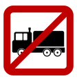 No cargo car sign vector image vector image