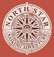 north star sailing adventure with nautical compass vector image vector image