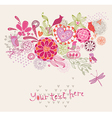 Ornament with flowers and birds vector image vector image