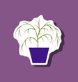 paper sticker plant in a pot vector image
