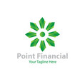 point financial logo designs vector image vector image