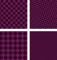 Purple simple geometric shape wallpaper set vector image vector image