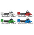 realistic snowmobile vector image vector image