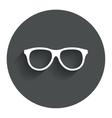 Retro glasses sign icon Eyeglass frame symbol vector image vector image