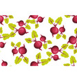 seamless pattern with beets pattern under the vector image vector image
