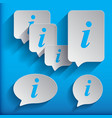 set of six speech information bubbles for design vector image vector image