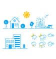 set of weather icons season vector image vector image
