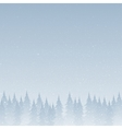Silhouettes of trees on a snowy blue background vector image