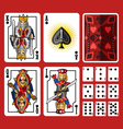 Spade Suit Playing Cards Full Set vector image vector image