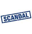square grunge blue scandal stamp vector image vector image