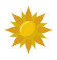 sun cartoon symbol vector image
