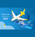 time to travel abstract isometric concept vector image vector image