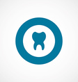tooth bold blue border circle icon vector image vector image
