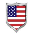 USA flag button vector image vector image