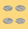 weight plate for barbell in 3d vector image