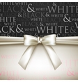 white bow on black and white background vector image vector image