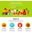 Winter Greetings Web Design vector image vector image