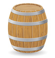 wooden barrel 01 vector image vector image