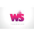 ws w s letter logo with pink purple color and vector image vector image