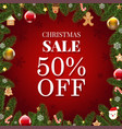 xmas sale poster vector image vector image