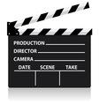 chalkboard movie director slate vector image