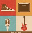 Retro Rock Icons vector image