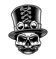 a steampunk skull in top hat vector image vector image