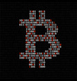 abstract sign bitcoin of binary code vector image vector image