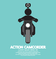 Action Camcorder Symbol vector image vector image
