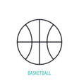 basketball ball outline icon sports equipment vector image
