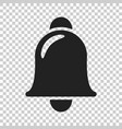 bell icon in flat style alarm bell on isolated vector image vector image