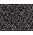 Black and White People Seamless Background Pattern vector image