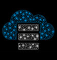 bright mesh network cloud database with flare vector image vector image