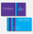 business cards templates in style the vector image