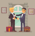 business partnership vector image vector image