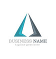 business triangle company logo vector image