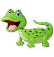 Cartoon cute lizard vector image