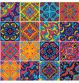 ceramic tile with colorful patchwork in spanish vector image vector image