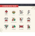 Chinese New Year - line design icons set vector image