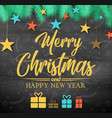 christmas black background vector image
