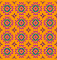 colored pattern with geometric elements in ethnic vector image vector image