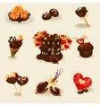 decorative chocolate icons vector image