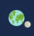 earth and moon in space vector image vector image