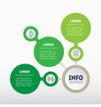 eco business presentation with three options vector image vector image