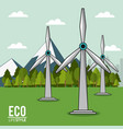 eco lifestyle turbine wind energy renewable vector image