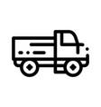 farmland delivery truck thin line icon vector image vector image
